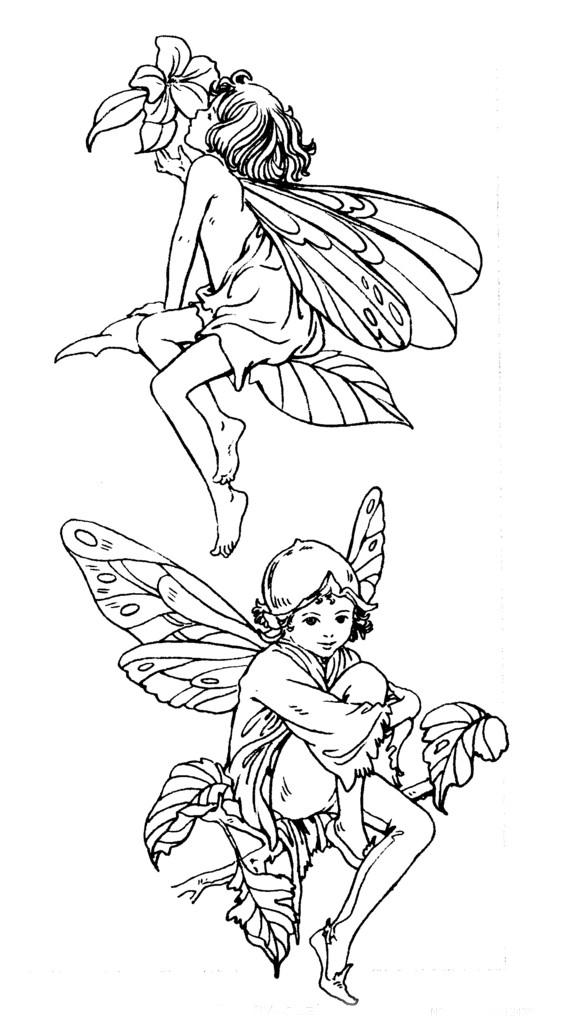 可爱花仙子人物插画